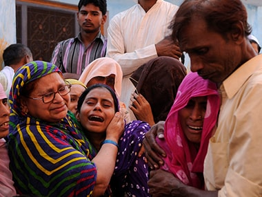 Family members of Mohammad Akhlaq. Getty images
