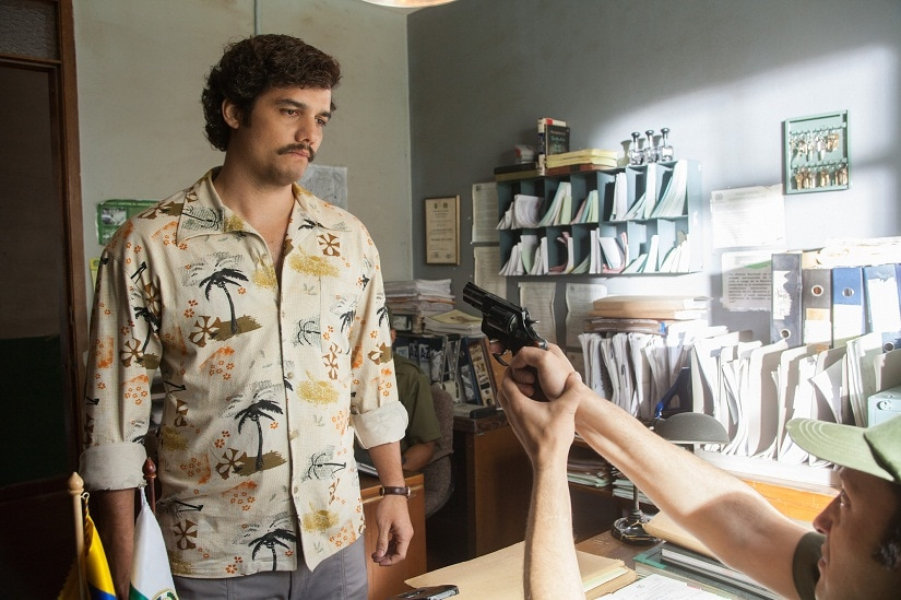 """WAGNER MOURA stars in NARCOS. NARCOS S01E03 """"The Men of Always"""""""