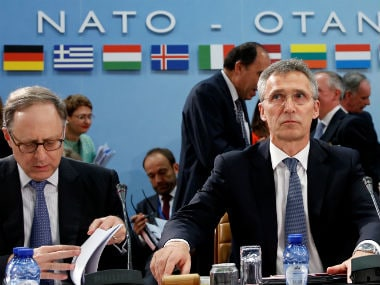 NATO Secretary-General Jens Stoltenberg chairs a NATO defence ministers meeting. Reuters