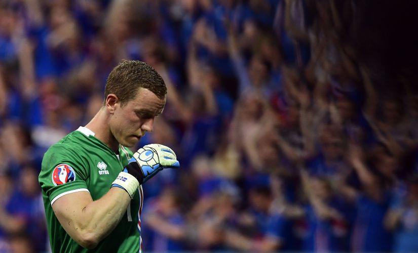 Iceland's goalkeeper Hannes Thor Halldorsson. AFP