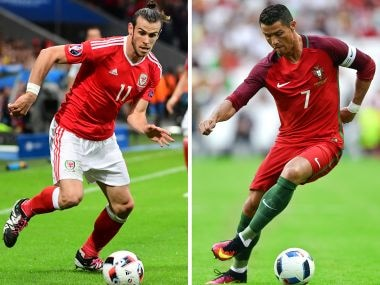 Cristiano Ronaldo and Gareth Bale. AFP