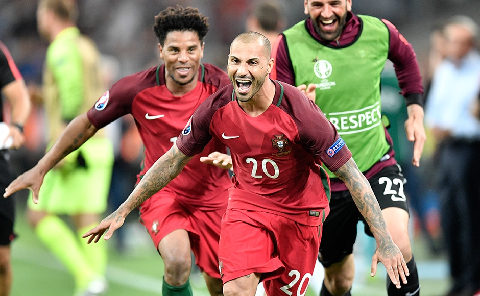 Portugal though have the last laugh as Ricardo Quaresma scores the winning penalty post a 1-1 draw after 120 minutes of football. AP