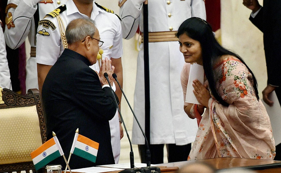 At 35, Anupriya Patel is the youngest to be sworn-in as a junior minister. The Apna Dal MP is a key Kurmi leader and can play a pivotal role in swinging OBC votes in the politically crucial state of Uttar Pradesh. PTI