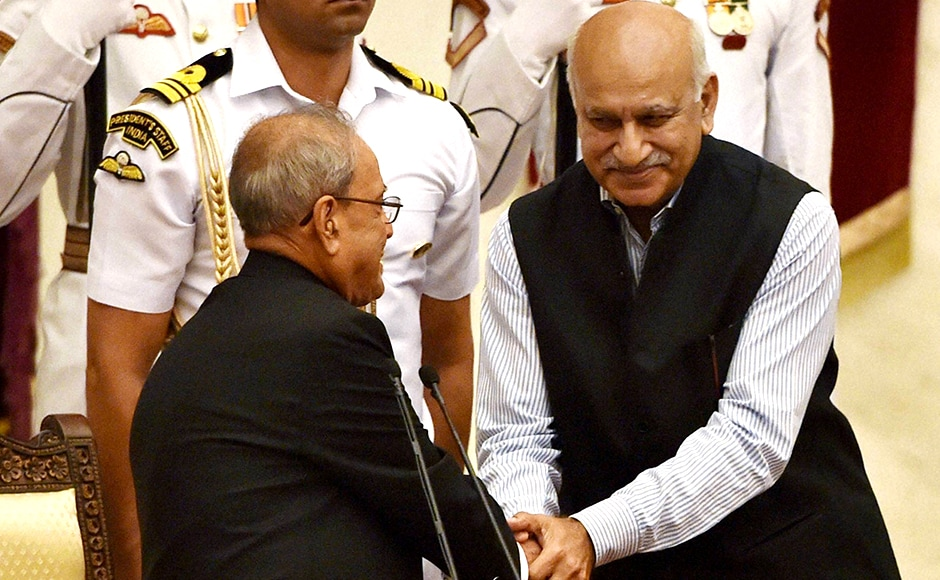 MJ Akbar, veteran journalist, began his political career after being elected on a Congress ticket in 1989. In 2014, he joined the BJP. PTI