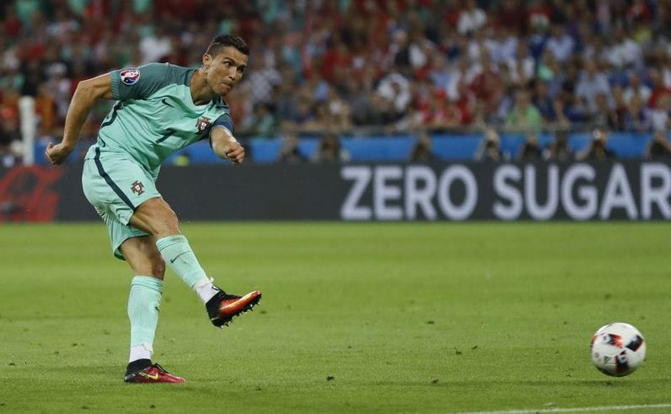 After scoring the first, Ronaldo turns provider for the second as Ronaldo's shot is guided into the back of the net by Nani. AP