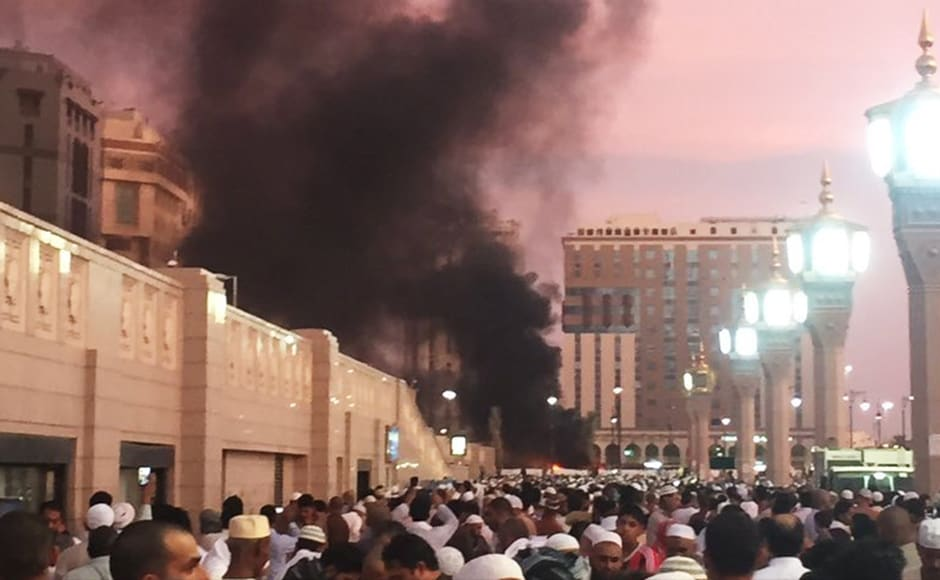 A suicide explosion was reported on Monday, 4 July  near one of Islam's holiest sites in the city of Medina. Photo Courtesy: AP