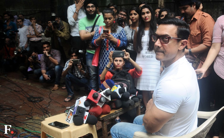 Aamir Khan interacts with media on Eid. Sachin Gokhale/Firstpost