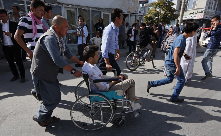 More than 61 people have died so far and over 207 have been injured in the twin blasts that hit a peaceful protest in Afghan capital, Kabul on Saturday. Thousands of protesters from the Shia Hazara minority had gathered at the Deh Mazang square in west Kabul. AP