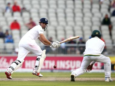 Alastair Cook in action on Day 3. Getty