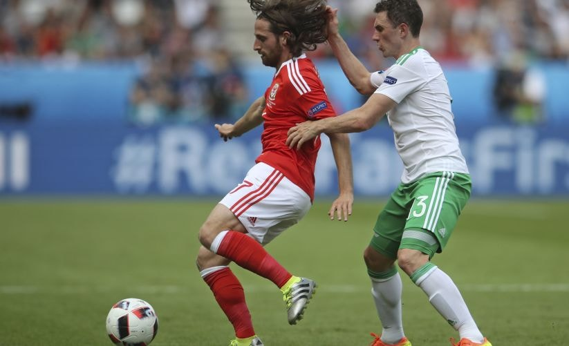 Wales' Joe Allen is often compared to Spain's Xavi Hernandez or Italy's Andrea Pirlo. AP
