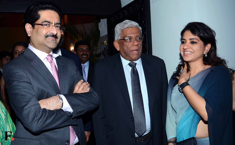 (l-r) Kumar Mangalam Birla, chairperson of the Aditya Birla Group; Deepak Parekh; and BJP leader Shaina NC. Jain's book is published by Penguin India and will hit the stands in August. Sachin Gokhale/Firstpost