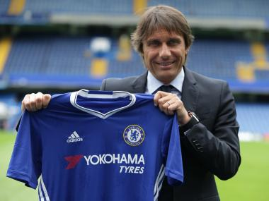 Antonio Conte gave his first press conference as Chelsea manager. AFP