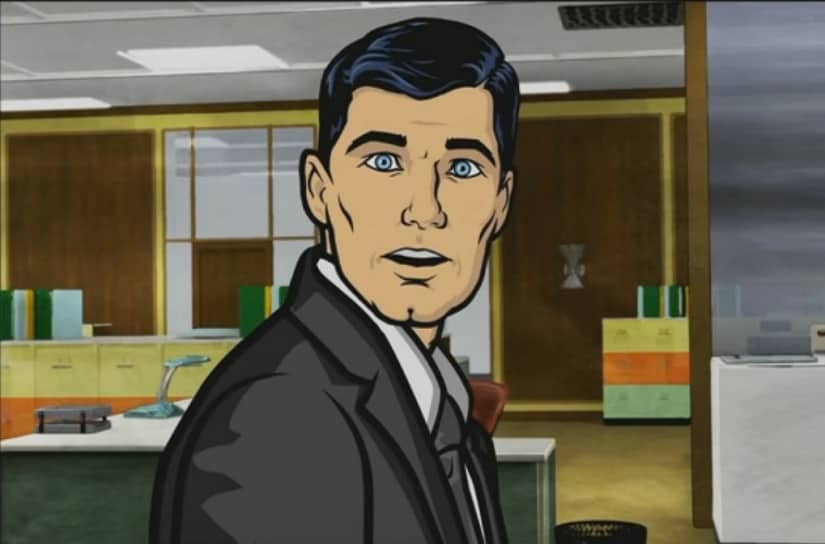Sterling Archer in Archer. Screengrab from YouTube.