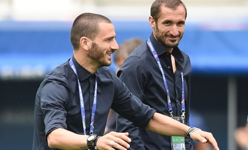 Italy's defence will be bolstered by Leonardo Bonucci. AFP