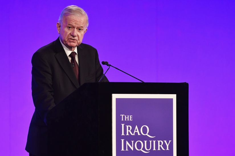 Iraq Inquiry chairman Sir John Chilcot speaks as he comments on the findings of his report. AFP