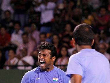 Leander Paes. Davis Cup Twitter