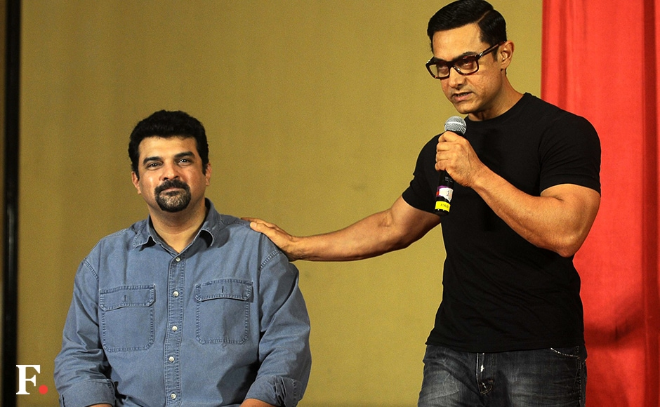 Aamir said he launched the poster of 'Dangal' two days before 'Sultan' as it would help him grab the audience's attention. Image by Sachin Gokhale/Firstpost