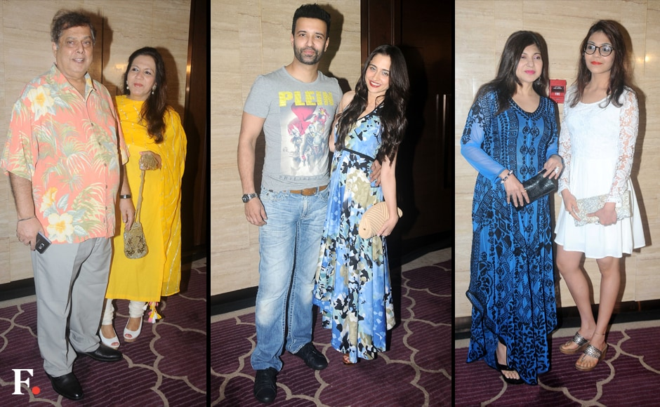 Krishika's party was well-attended by the film fraternity. David Dhawan and his wife, and TV actor-couple Aamir Ali and Sanjeeda Sheikh were also spotted at the do. Images by Sachin Gokhale/Firstpost