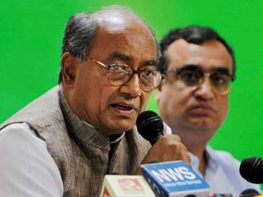 Congress leader Digvijaya Singh. File photo. PTI