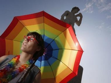 Gay rights parade in France
