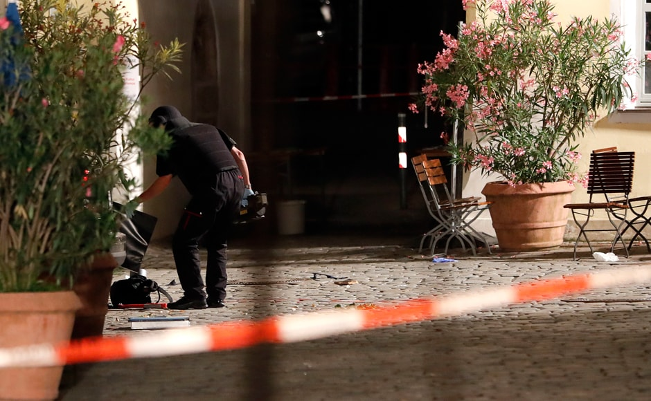 "The Bavarian Interior Ministry said that it appeared to possibly be a bombing attack, saying that there was evidence that there was a ""deliberate explosion."" Photo: AP"