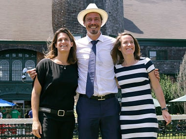 Amelie Mauresmo,Marat Safin and Justine Henin at the International Tennis Hall of Fame. AP