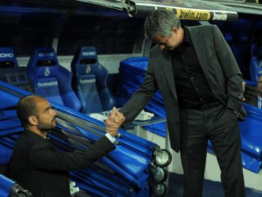 Pep Guardiola won't have problem shaking arch-rival Jose Mourinho's hand. Getty