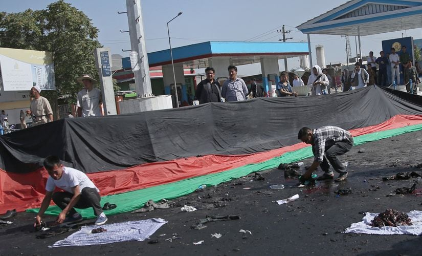 Site where the explosion on Saturday took place in Kabul. AP