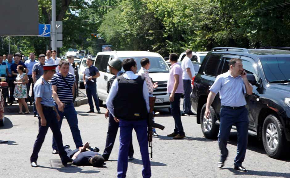 Energy-rich Kazakhstan, arguably one of the most prosperous former Soviet republics, is a predominantly Muslim but largely secular nation. Officials on Monday raised the terror threat level to red after the attack but would not immediately identify the affiliation of the attackers. Reuters
