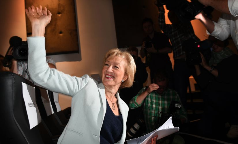 British Conservative Party leadership candidate Andrea Leadsom. AFP