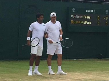 Leander Paes and Rohan Bopanna will not go head to head after Paes and Matkowski lost in Wimbledon second round. Wimbledon facebook