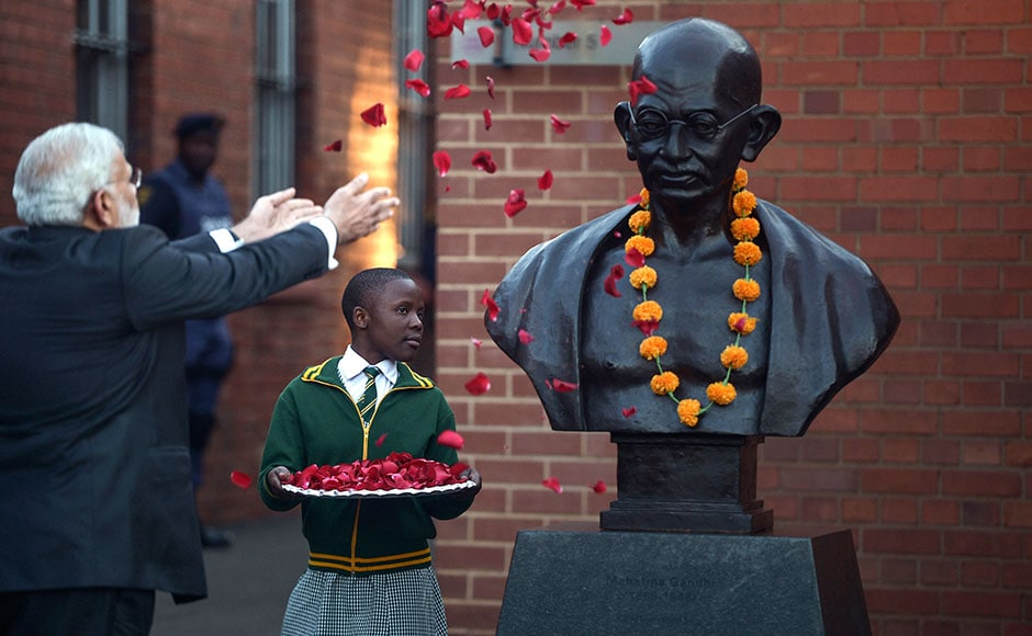 Mahatma Gandhi spent 21 years in South Africa as a young lawyer and activist. This period was crucial in shaping his political persona. AFP