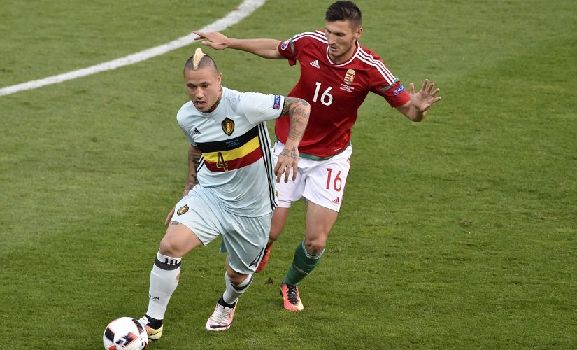 Radja Nainggolan is Belgium's link between attack and defence. AFP