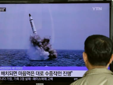 North Korea launched a ballistic missile in May. AP