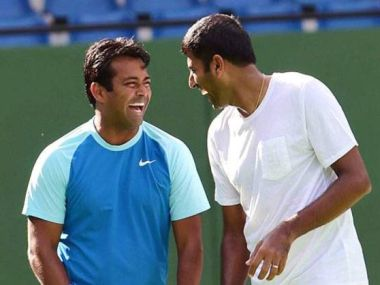 Leander Paes and Rohan Bopanna. PTI