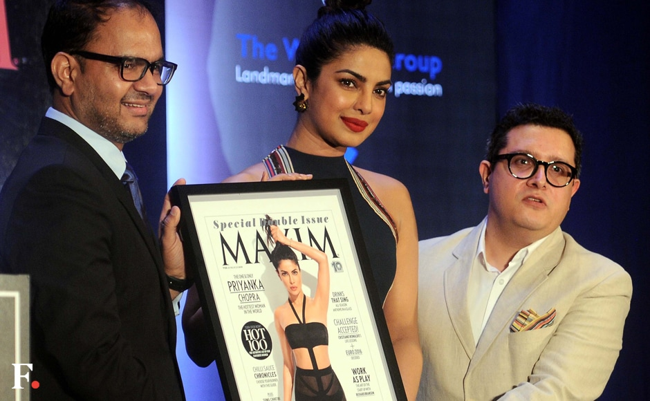 It was an image that caused quite the Photoshop storm, but Priyanka Chopra was the picture of calm as she unveiled her cover for Maxim India at a high profileaffair on Thursday, 30 June, night. Image by Sachin Gokhale/Firstpost