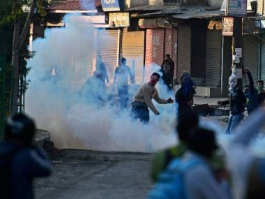 File image of protests in Kashmir. PTI