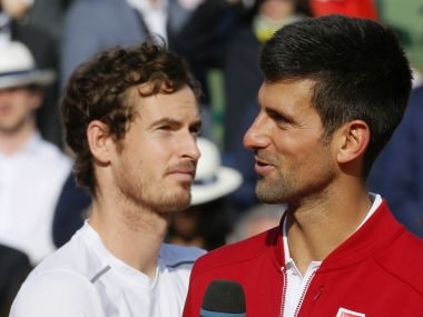 File photo of Novak Djokovic and Andy Murray. Reuters