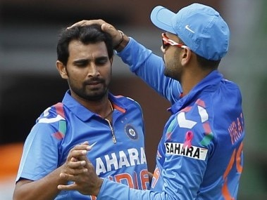 File photo of Mohammed Shami and Virat Kohli. Reuters