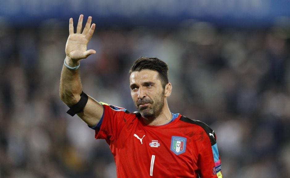 Italy's Gianluigi Buffon reacts after losing the penalty shootout against Germany. Reuters