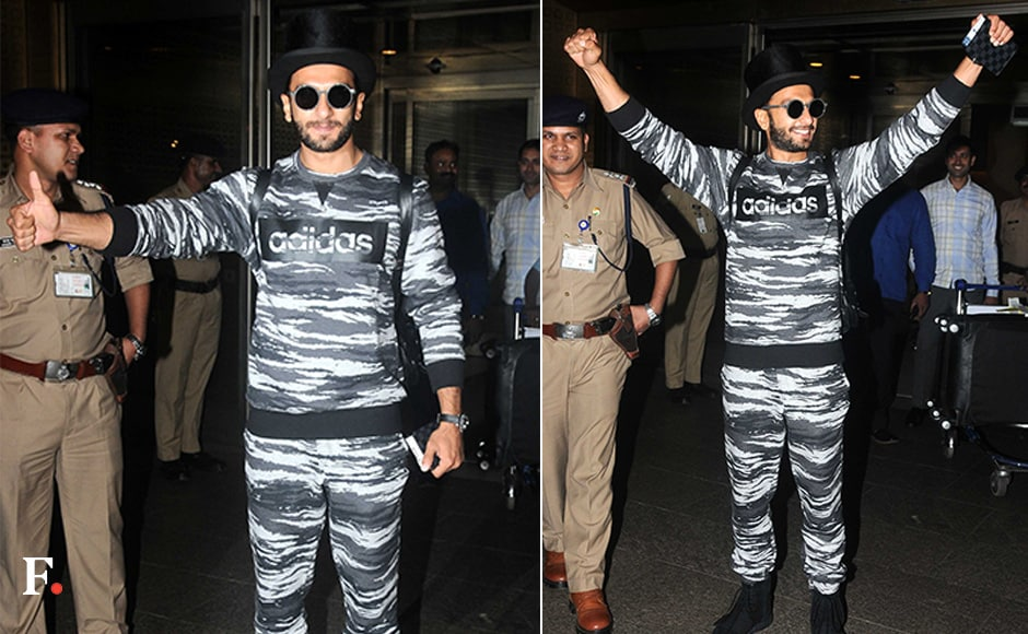 This is how Ranveer Singh arrived in India after 3 months of being away. Sachin Gokhale/Firstpost