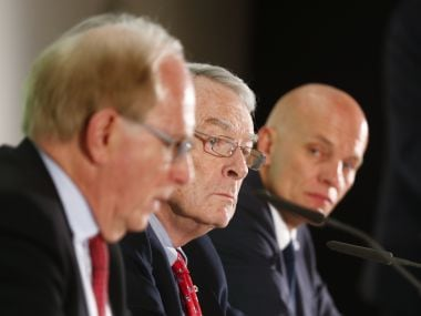Richard McLaren's (L) report on Russia's doping scandal is set to come out on Monday. Reuters