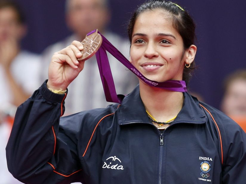 Saina Nehwal with her Olympics medal. Reuters