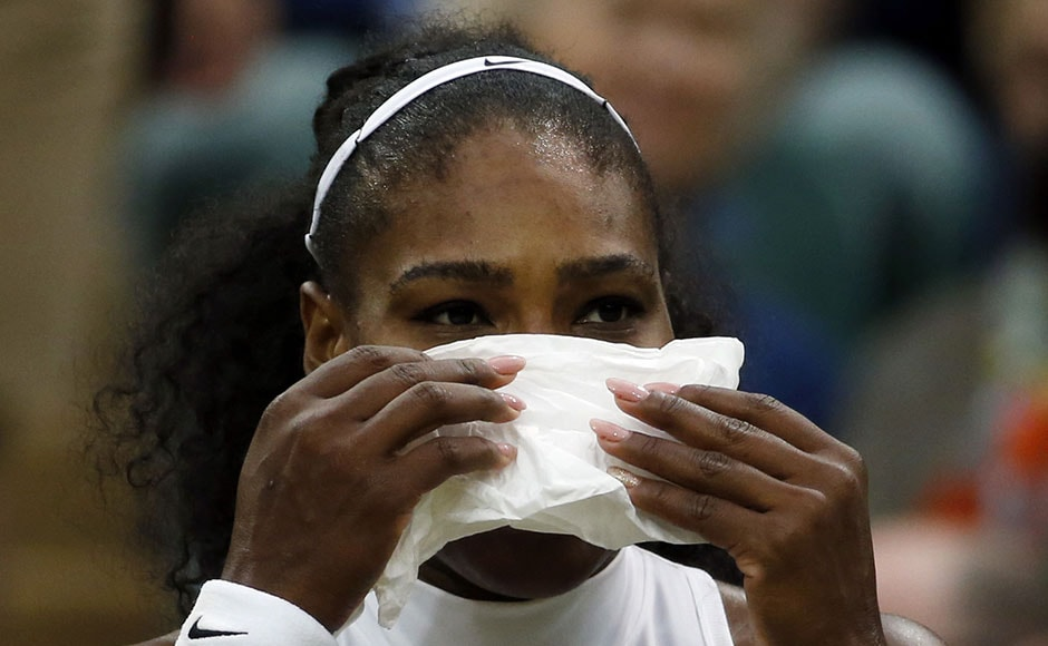 The defending champion finally ran out a 6-7(7) 6-2 6-4 winner against the world number 65 on Centre Court, marching on in her quest to emulate Steffi Graf's Open era record of 22 grand slam singles titles. (Reuters) AP
