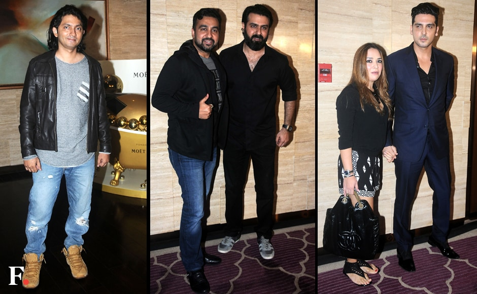 The party went on into the wee hours of the night, as guests trooped in at a late hour. Shirish Kunder, Raj Kundra, Harman Baweja and Zayed Khan with his wife Malaika Parekh rounded off the guest list. Images by Sachin Gokhale/Firstpost