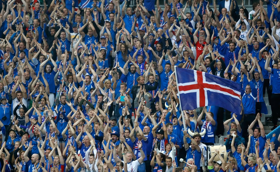 Iceland fansshowed their heart and desire with their unique celebrations at theEuro 2016. AP