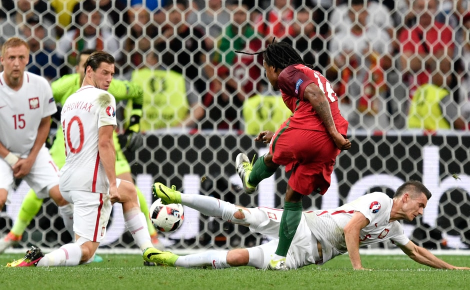 Renato Sanches scored the important equalizer for Portugal in the 33rd minute. AP