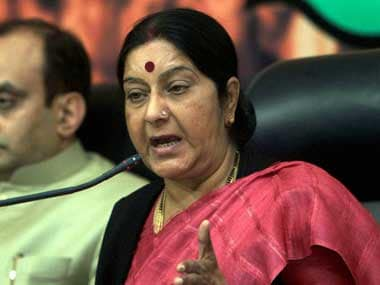 External Affairs Minister Sushma Swaraj. PTI
