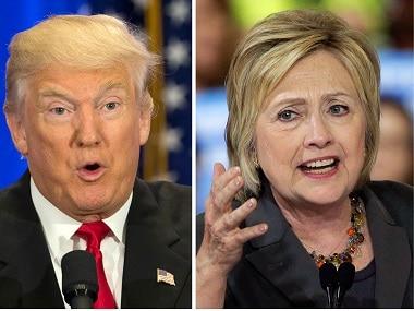 Donald Trump and Hillary Clinton. AP