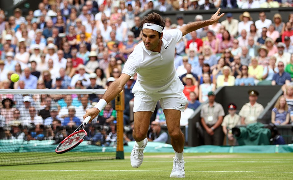 After weathering an early storm, Roger Federer had been in complete control of the semi-final, his 10th at the tournament, until the tie turned suddenly and dramatically in the fourth set. Getty Images